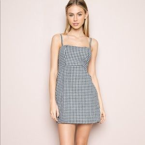 Brandy Melville Plaid Karla Mini Summer Dress